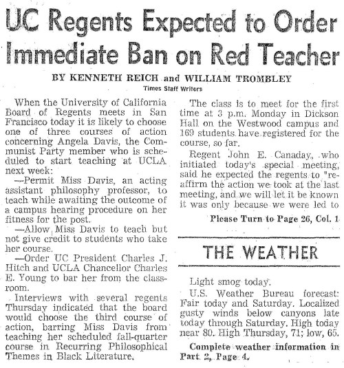 1969.10.03 UC Regents Expected to Order p1